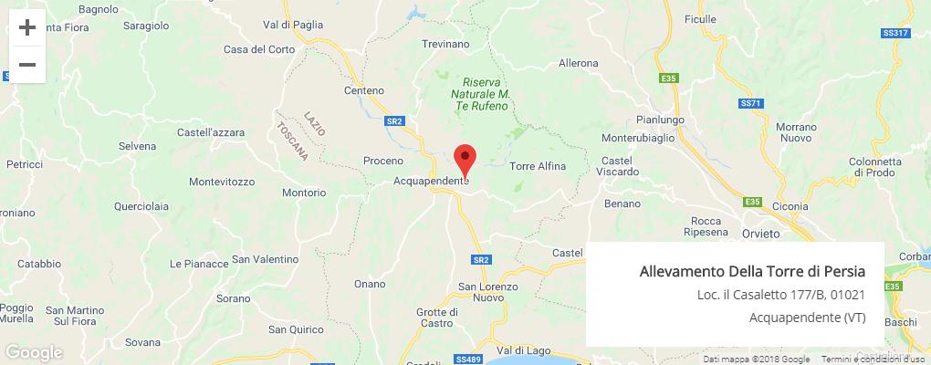 mappa allevamento lazio roma